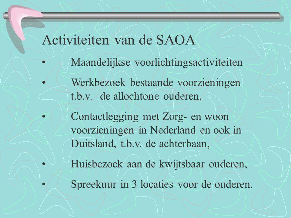 Activiteiten van de SAOA