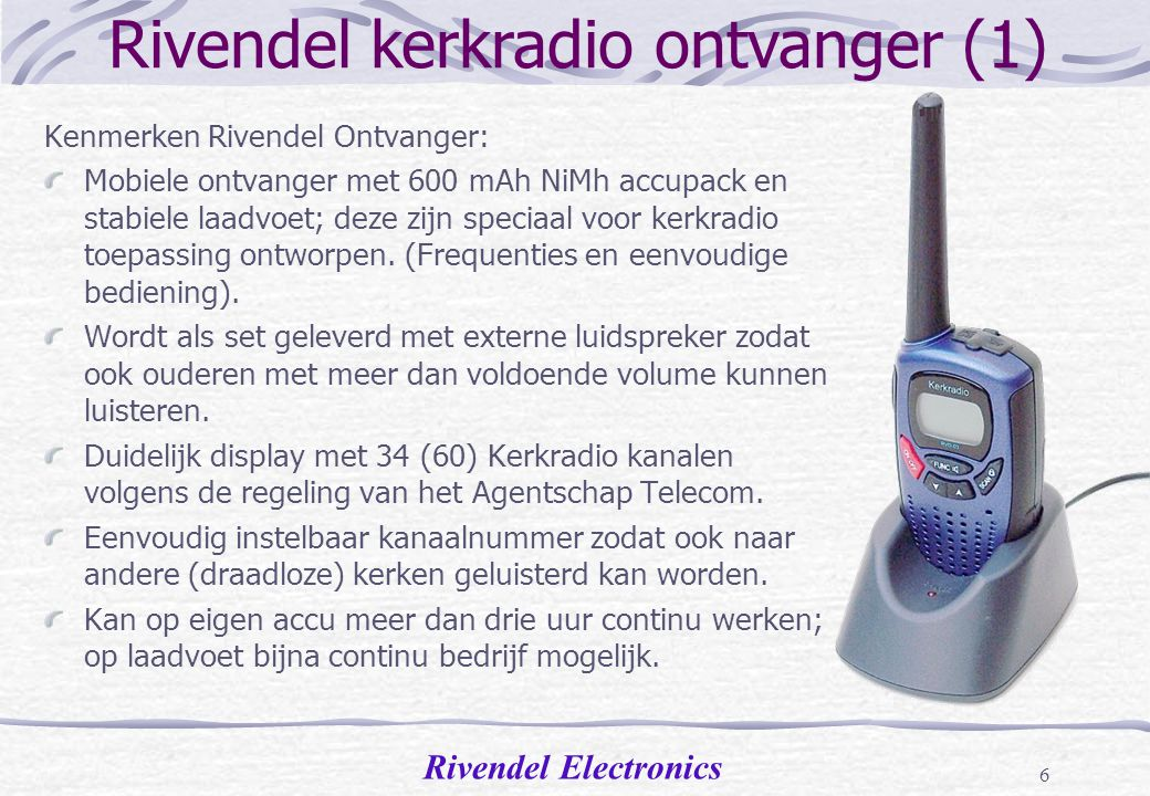 Rivendel kerkradio ontvanger (1)