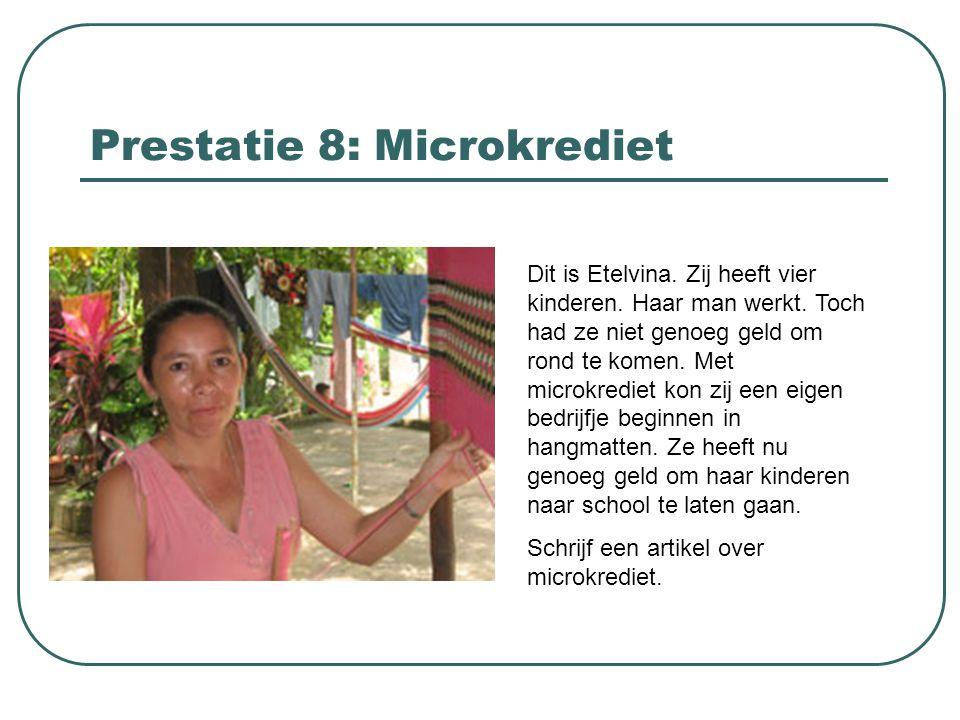 Prestatie 8: Microkrediet
