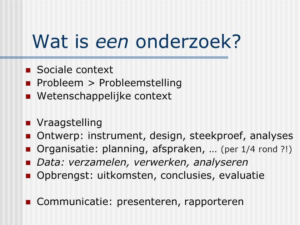 Wat is een onderzoek Sociale context Probleem > Probleemstelling