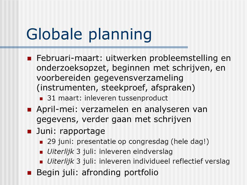 Globale planning