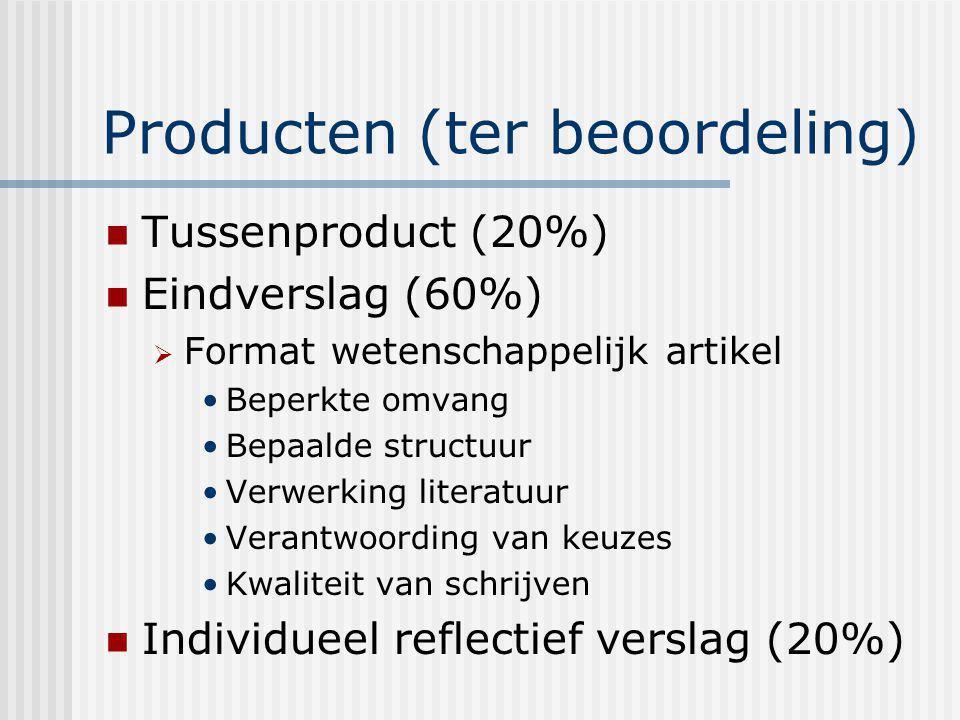 Producten (ter beoordeling)
