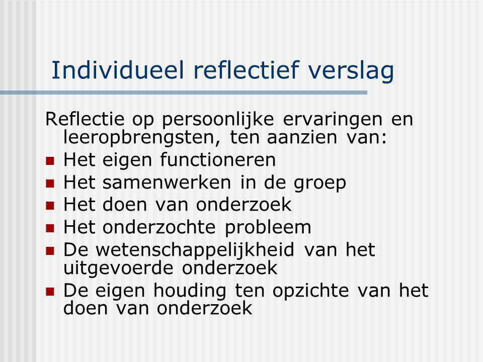 Individueel reflectief verslag