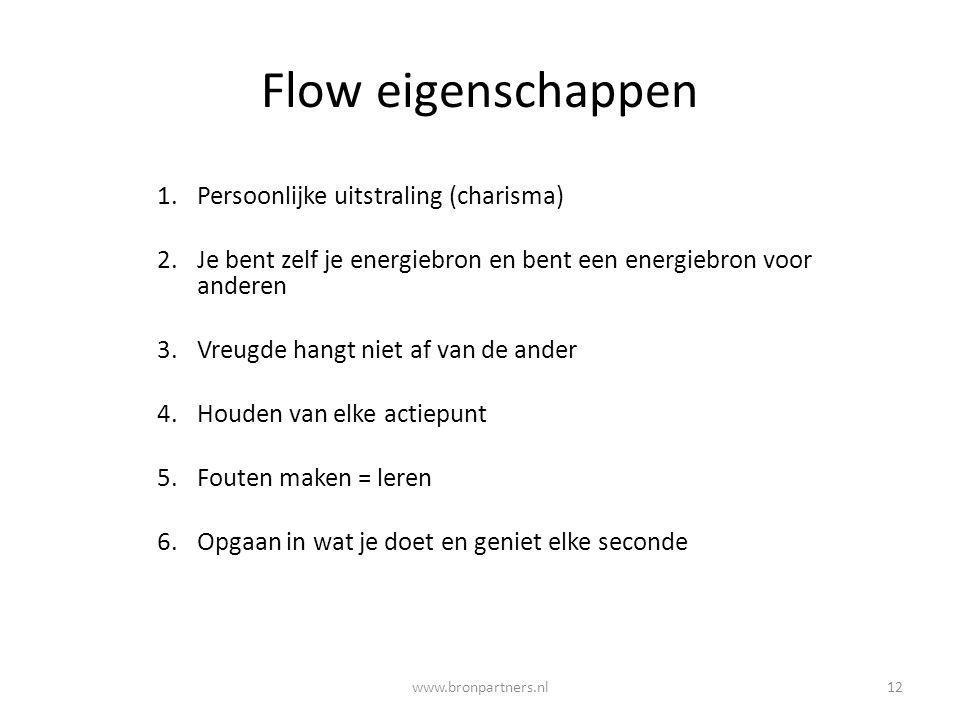 Flow eigenschappen Persoonlijke uitstraling (charisma)