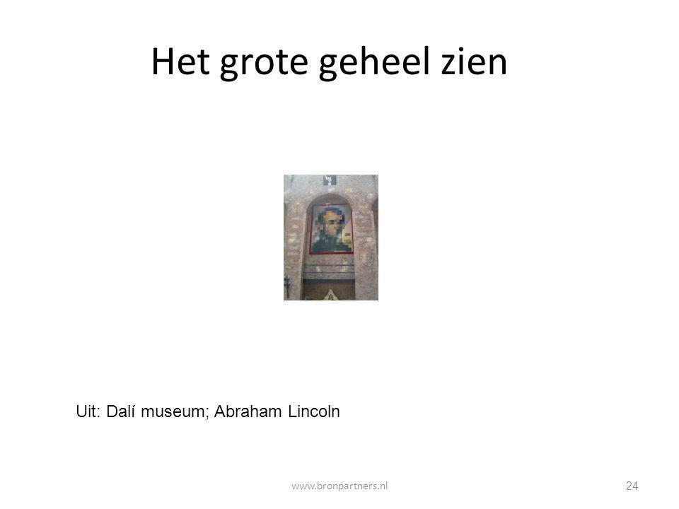 Het grote geheel zien Uit: Dalí museum; Abraham Lincoln