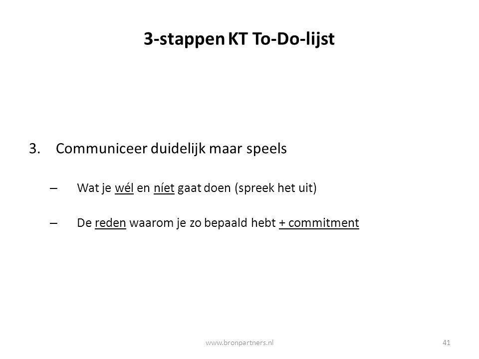 3-stappen KT To-Do-lijst