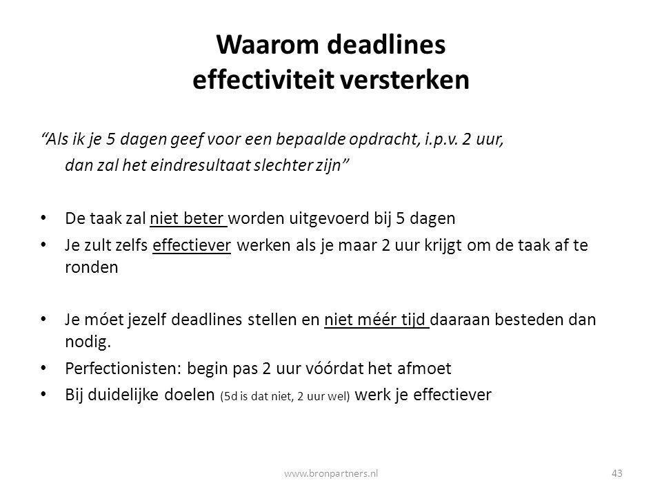 Waarom deadlines effectiviteit versterken