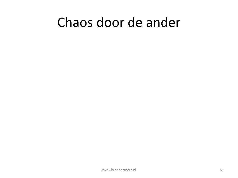 Chaos door de ander www.bronpartners.nl