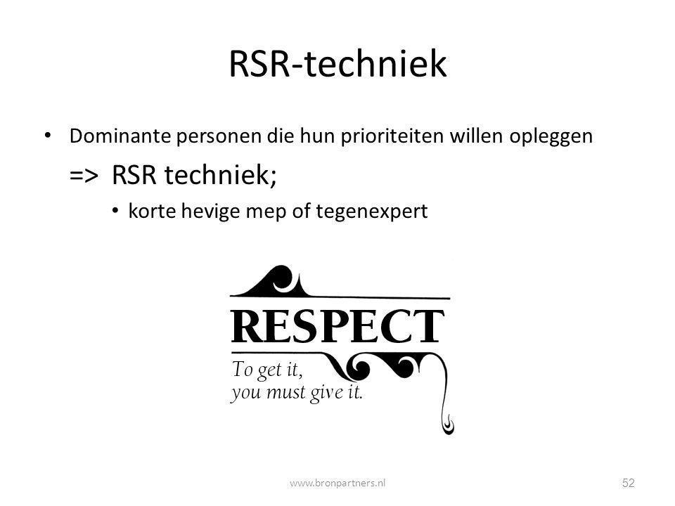 RSR-techniek => RSR techniek;