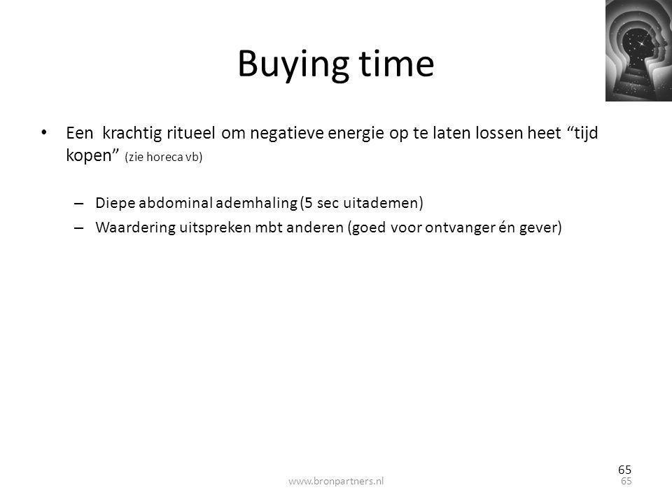 Buying time Een krachtig ritueel om negatieve energie op te laten lossen heet tijd kopen (zie horeca vb)