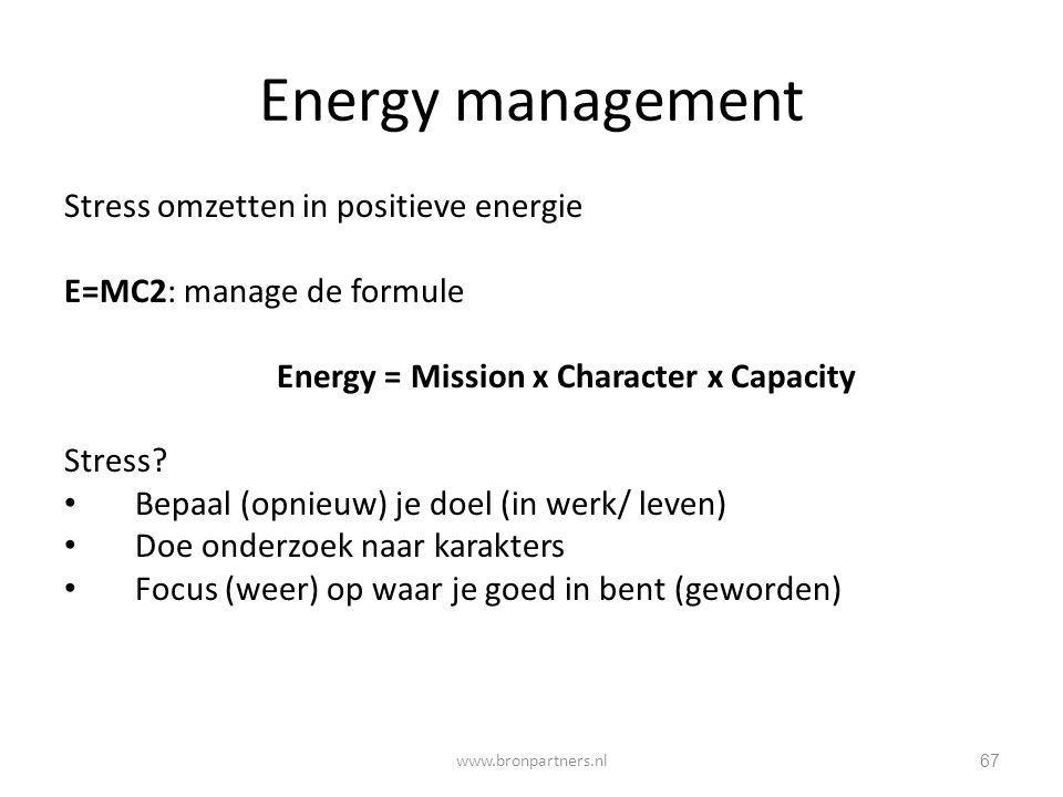 Energy management Stress omzetten in positieve energie