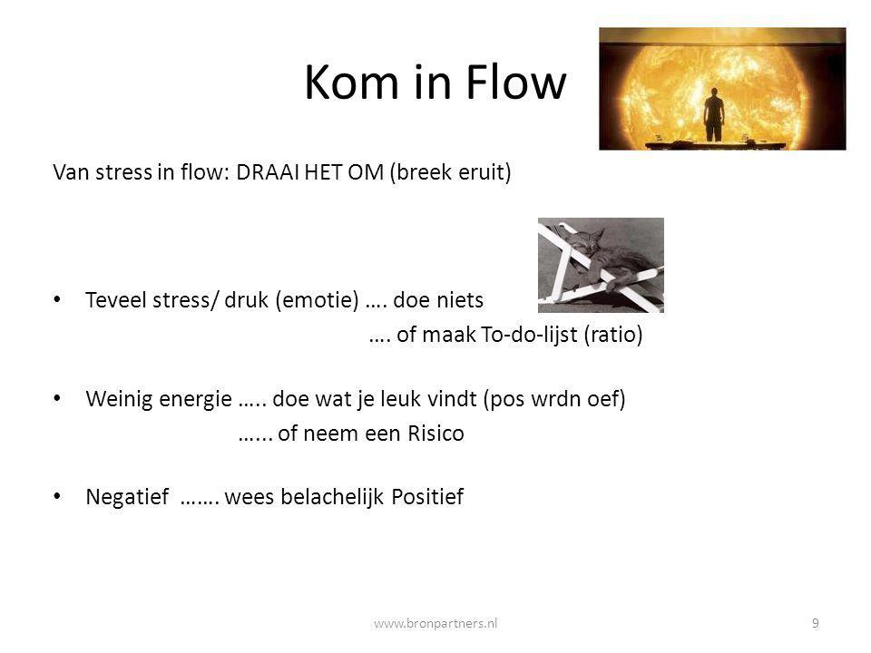 Kom in Flow Van stress in flow: DRAAI HET OM (breek eruit)