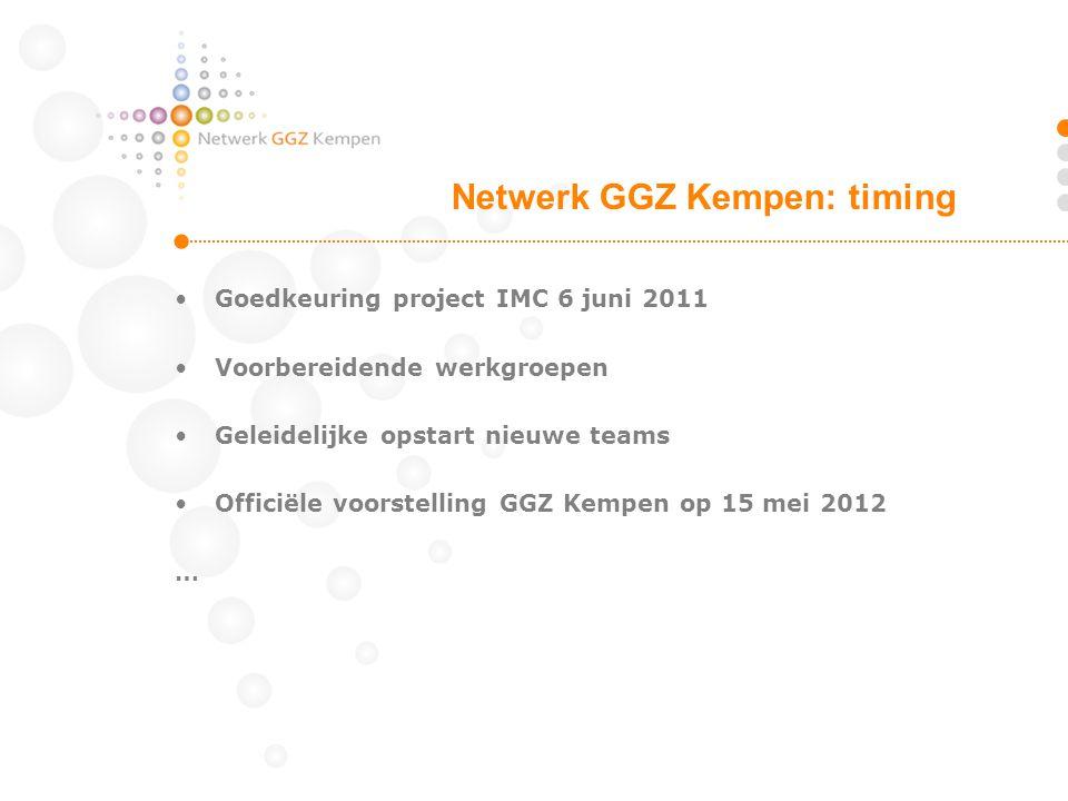 Netwerk GGZ Kempen: timing