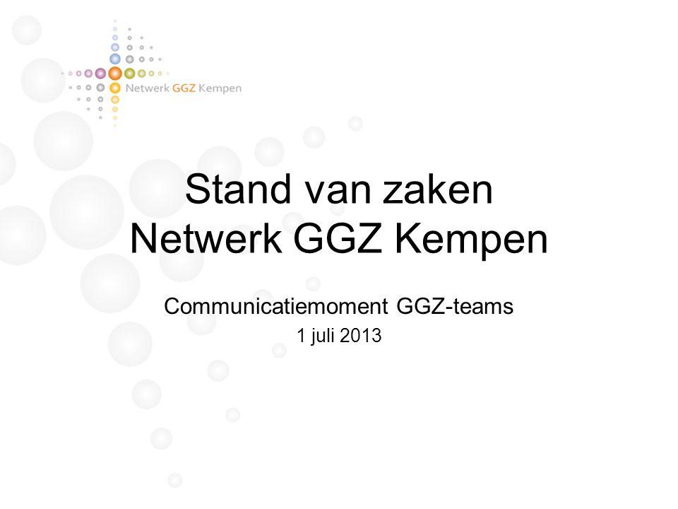Stand van zaken Netwerk GGZ Kempen