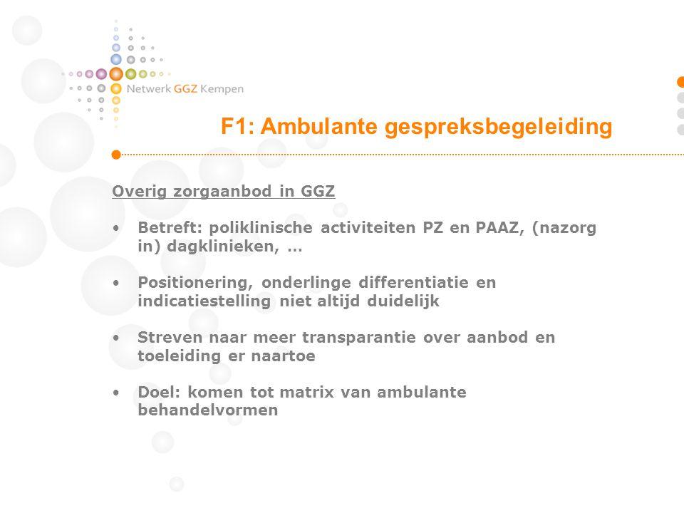 F1: Ambulante gespreksbegeleiding