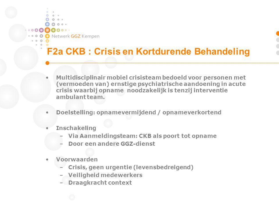 F2a CKB : Crisis en Kortdurende Behandeling