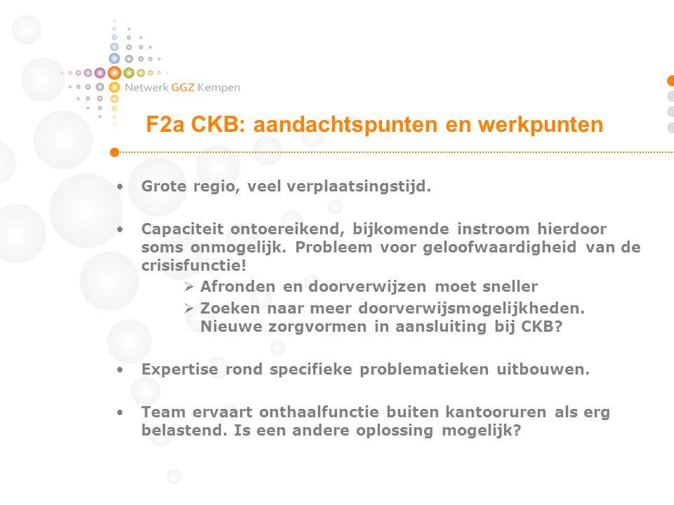 F2a CKB: aandachtspunten en werkpunten