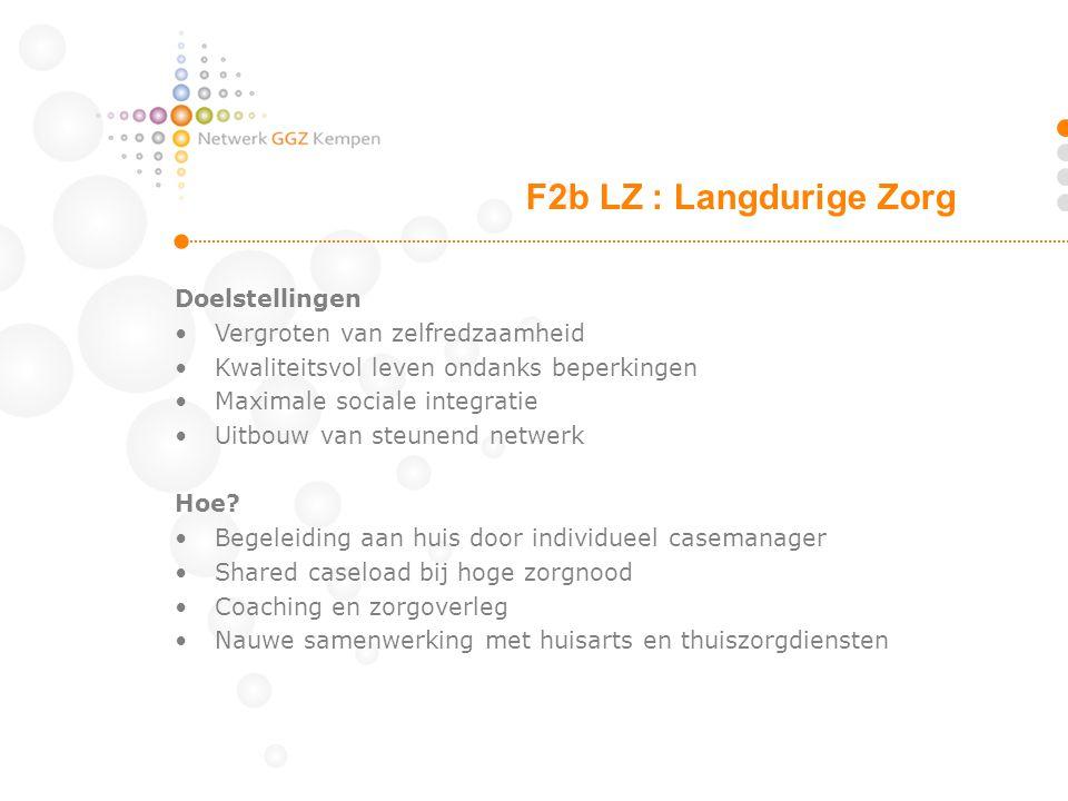 F2b LZ : Langdurige Zorg Doelstellingen Vergroten van zelfredzaamheid