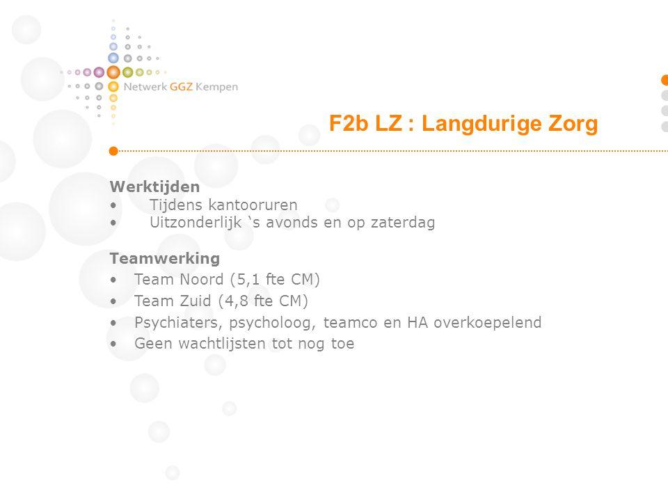 F2b LZ : Langdurige Zorg Werktijden Tijdens kantooruren