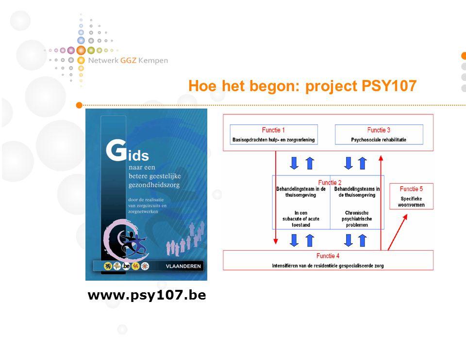 Hoe het begon: project PSY107