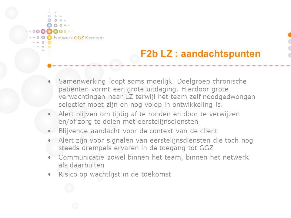 F2b LZ : aandachtspunten