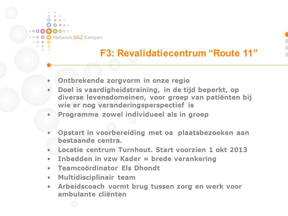 F3: Revalidatiecentrum Route 11