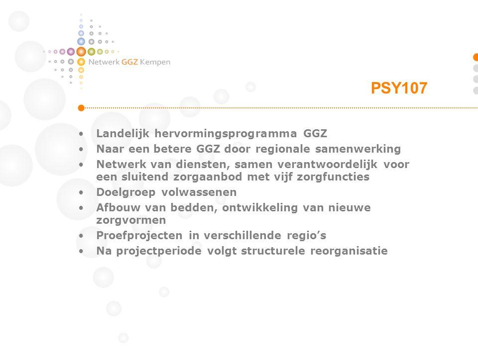 PSY107 Landelijk hervormingsprogramma GGZ