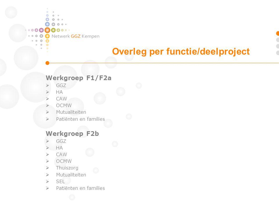 Overleg per functie/deelproject