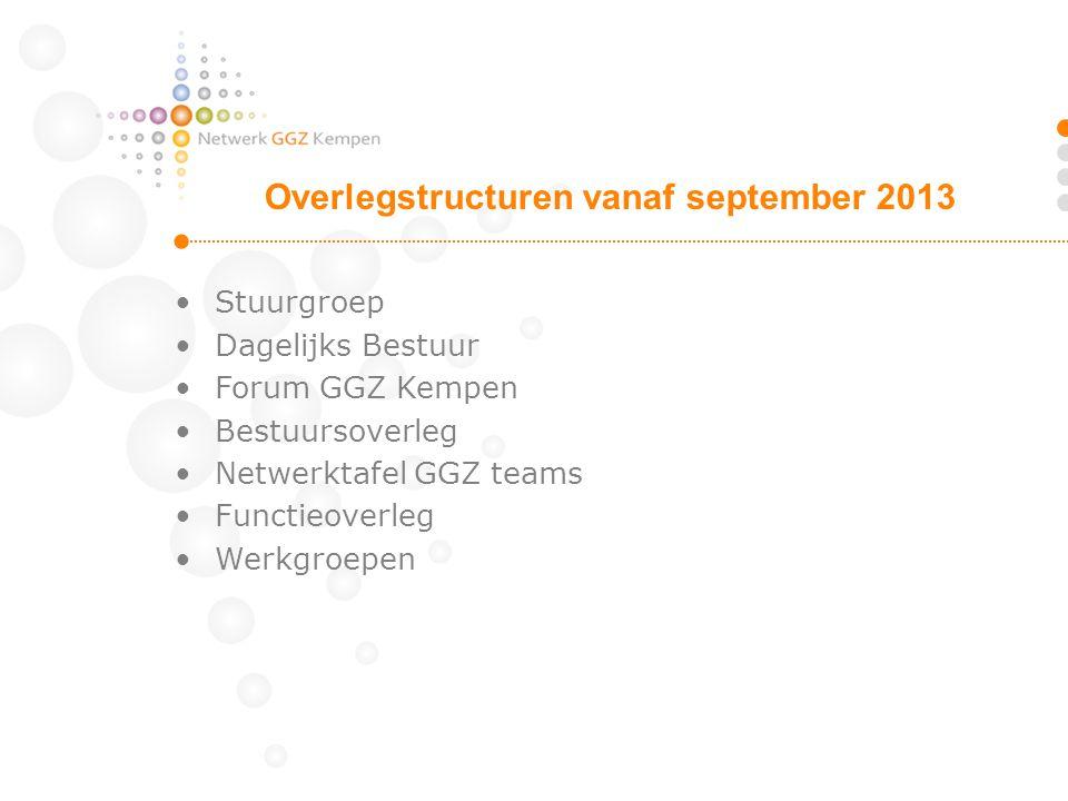 Overlegstructuren vanaf september 2013