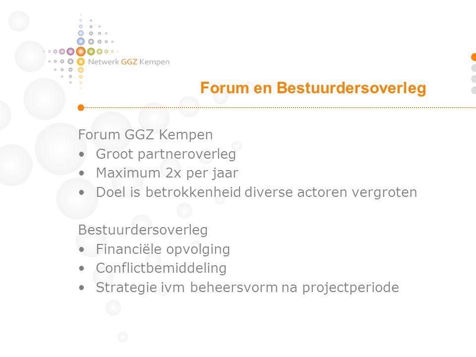 Forum en Bestuurdersoverleg