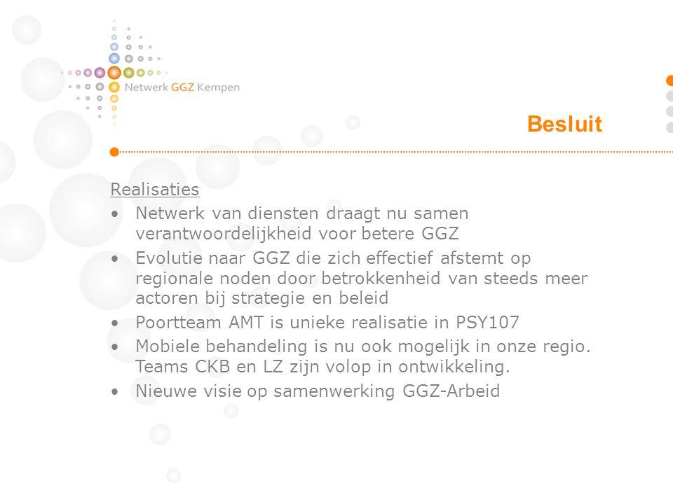 Besluit Realisaties. Netwerk van diensten draagt nu samen verantwoordelijkheid voor betere GGZ.