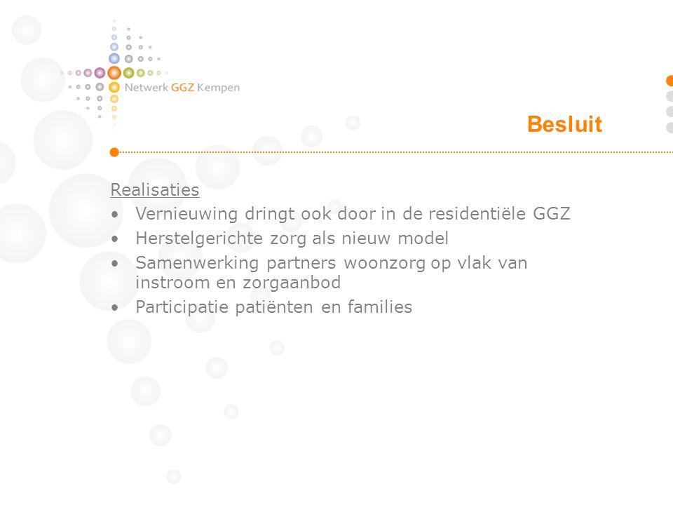 Besluit Realisaties Vernieuwing dringt ook door in de residentiële GGZ