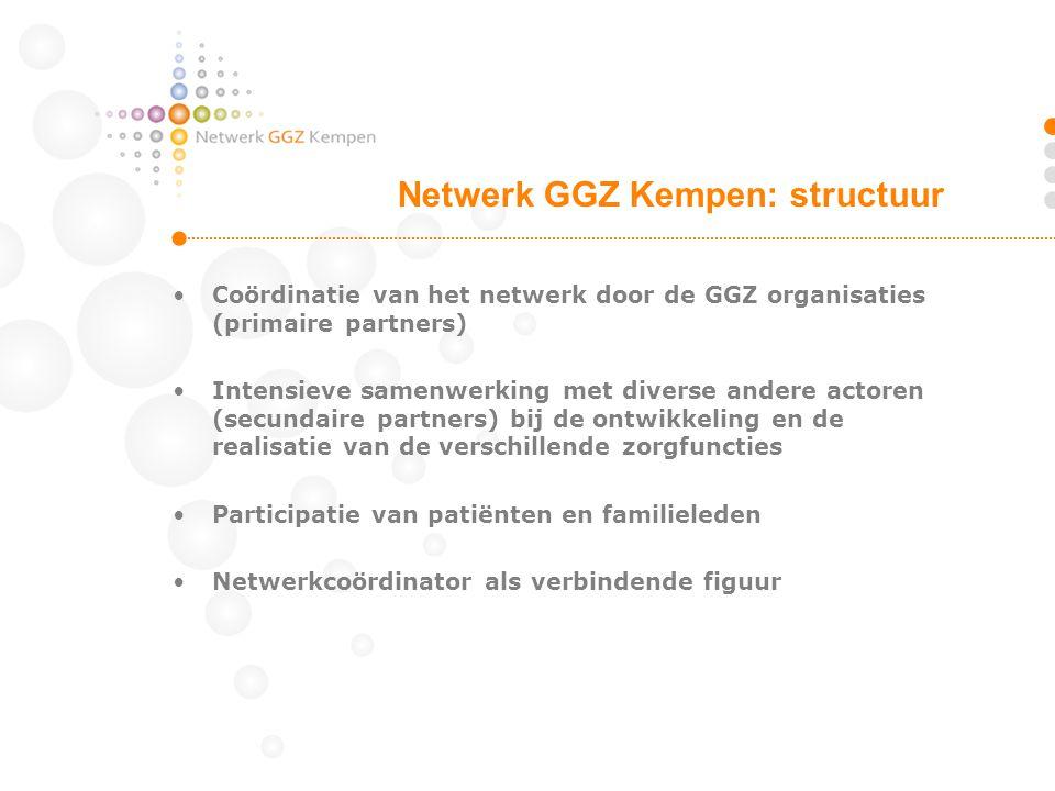 Netwerk GGZ Kempen: structuur