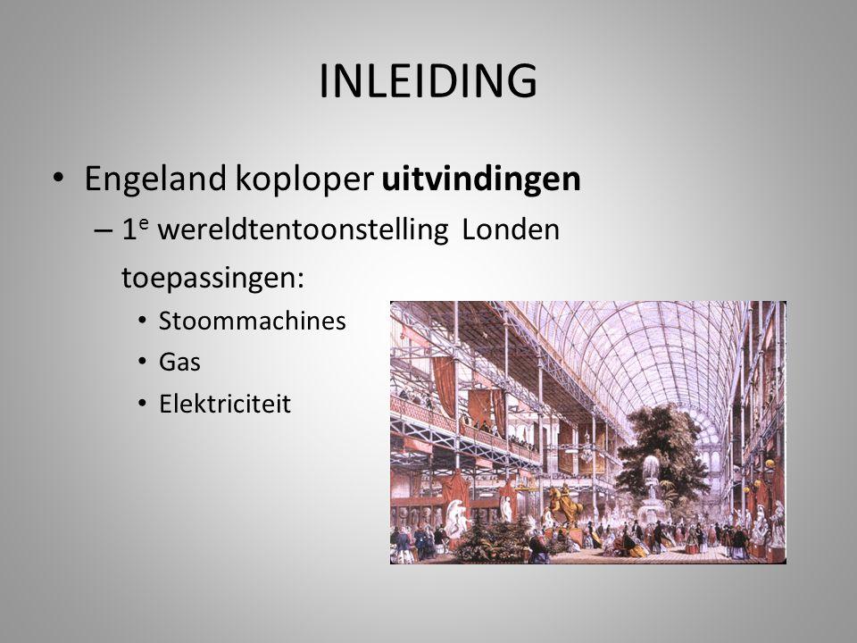 INLEIDING Engeland koploper uitvindingen