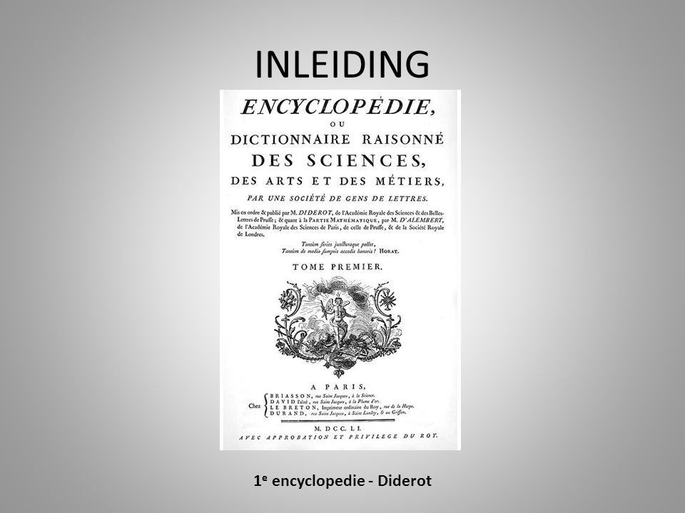 1e encyclopedie - Diderot