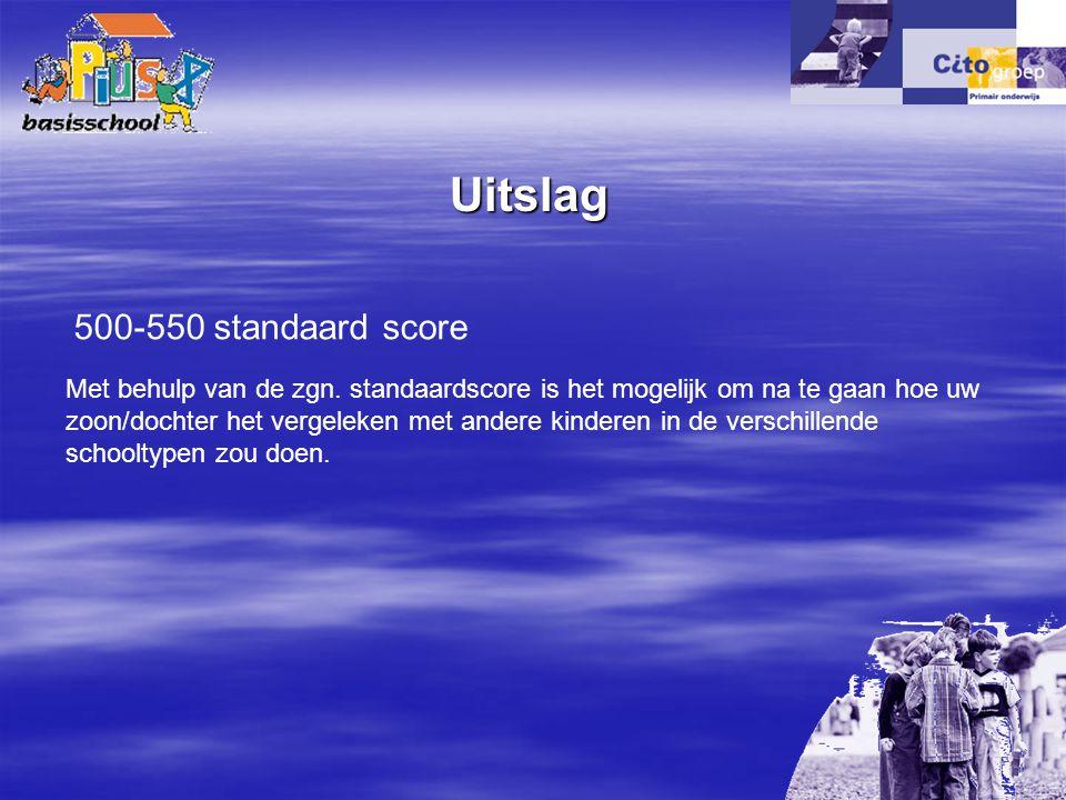 Uitslag 500-550 standaard score