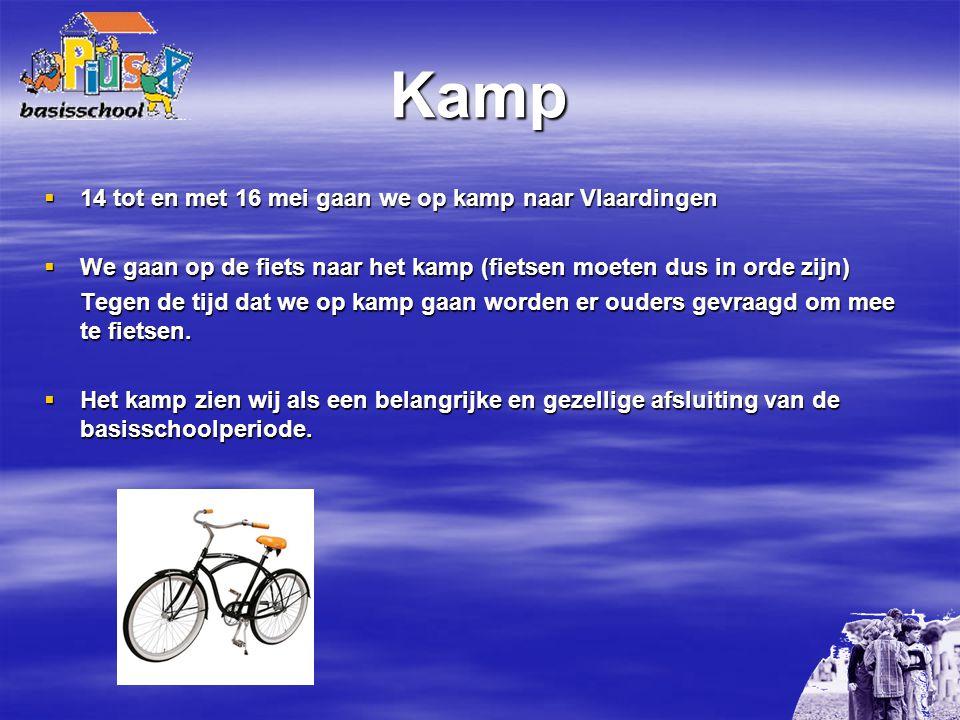 Kamp 14 tot en met 16 mei gaan we op kamp naar Vlaardingen