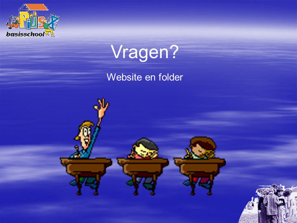 Vragen Website en folder