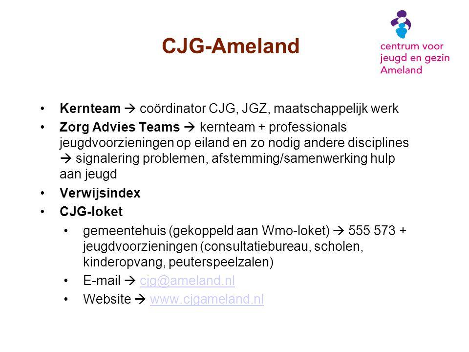 CJG-Ameland Kernteam  coördinator CJG, JGZ, maatschappelijk werk