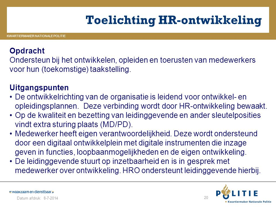 Toelichting HR-ontwikkeling