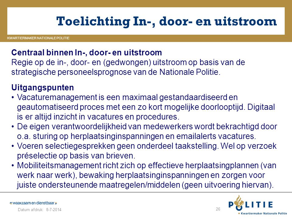 Toelichting In-, door- en uitstroom