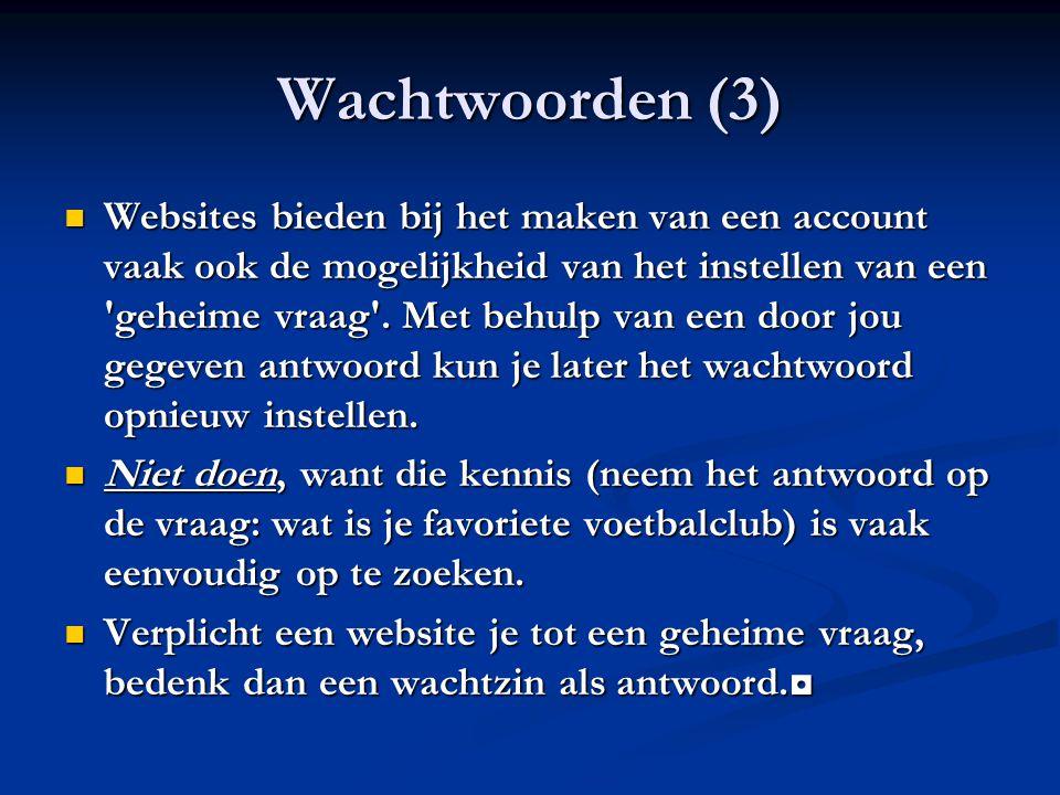 Wachtwoorden (3)