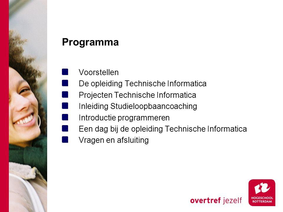 Programma Voorstellen De opleiding Technische Informatica