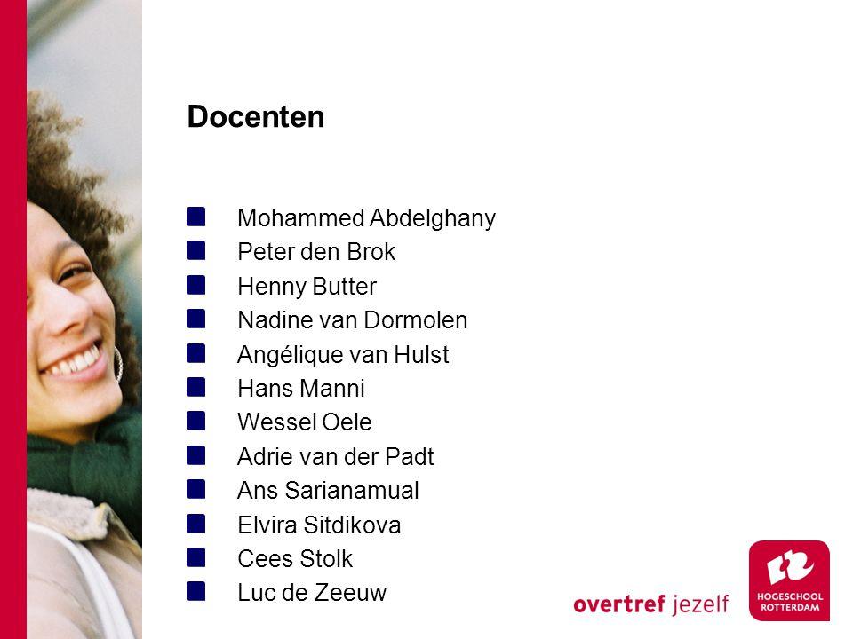 Docenten Mohammed Abdelghany Peter den Brok Henny Butter