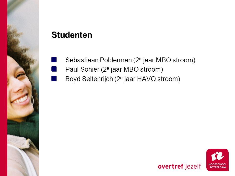Studenten Sebastiaan Polderman (2e jaar MBO stroom)