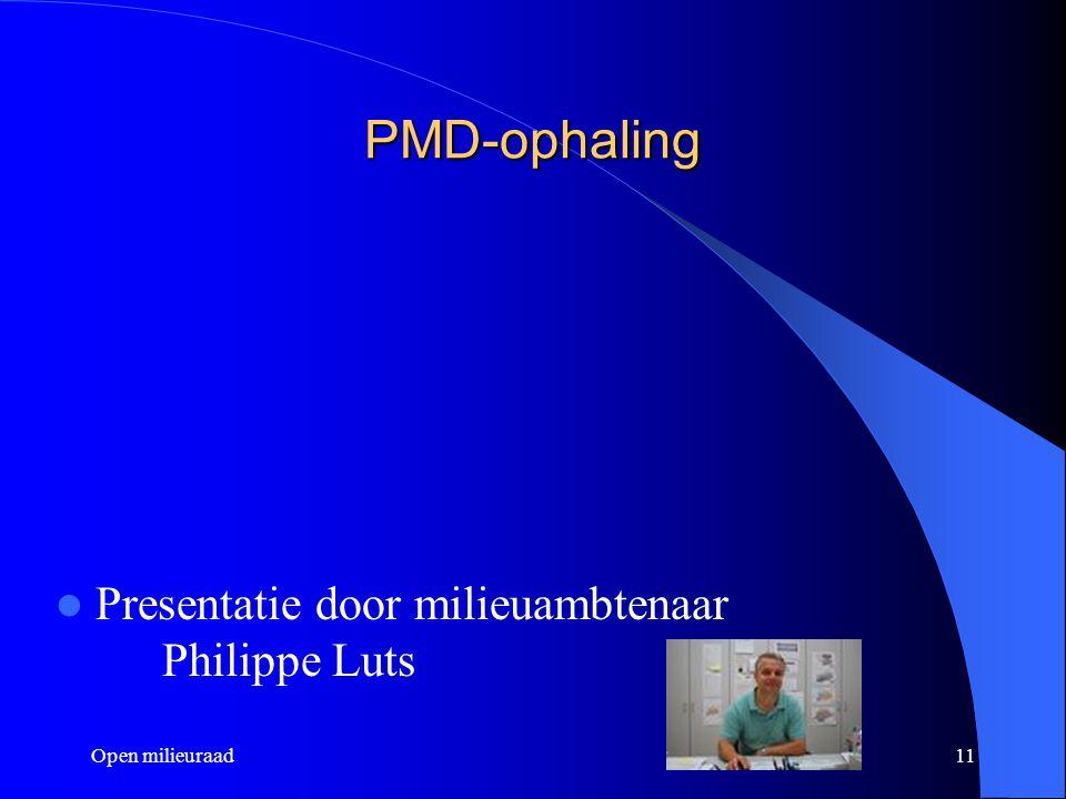 PMD-ophaling Presentatie door milieuambtenaar Philippe Luts