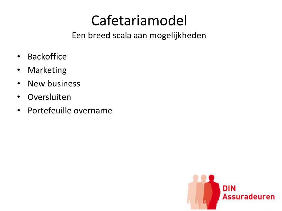 Cafetariamodel Een breed scala aan mogelijkheden