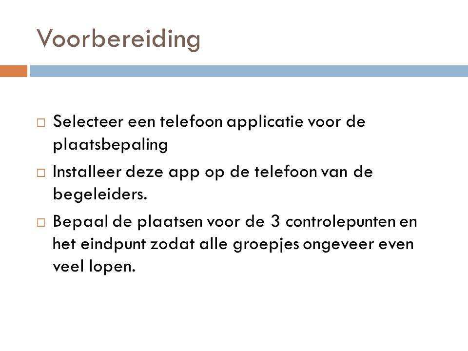 Voorbereiding Selecteer een telefoon applicatie voor de plaatsbepaling