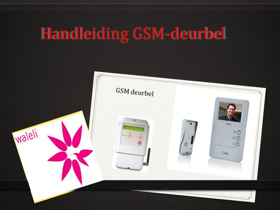 Handleiding GSM-deurbel