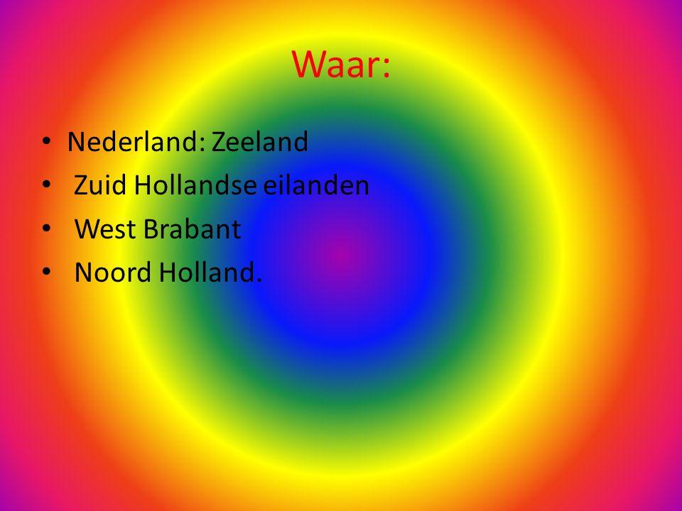 Waar: Nederland: Zeeland Zuid Hollandse eilanden West Brabant